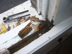 Window Sill before